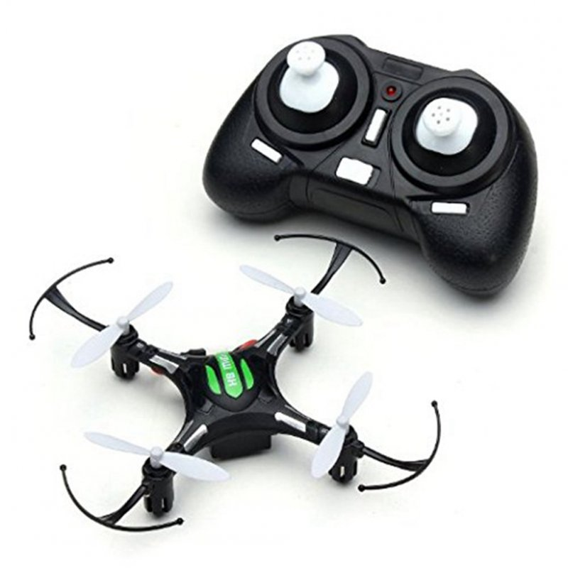 RC Mini Drone Quadcopter 2.4G 4 Channel 6-Axis Gyro Headless Mode with One Key to Return Function Black