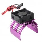 RC Parts Brushless Aluminum Electric 540 550 Motor Heat Sink Cover + Cooling Fan Heatsink 1/10 For HSP Himoto Redcat red