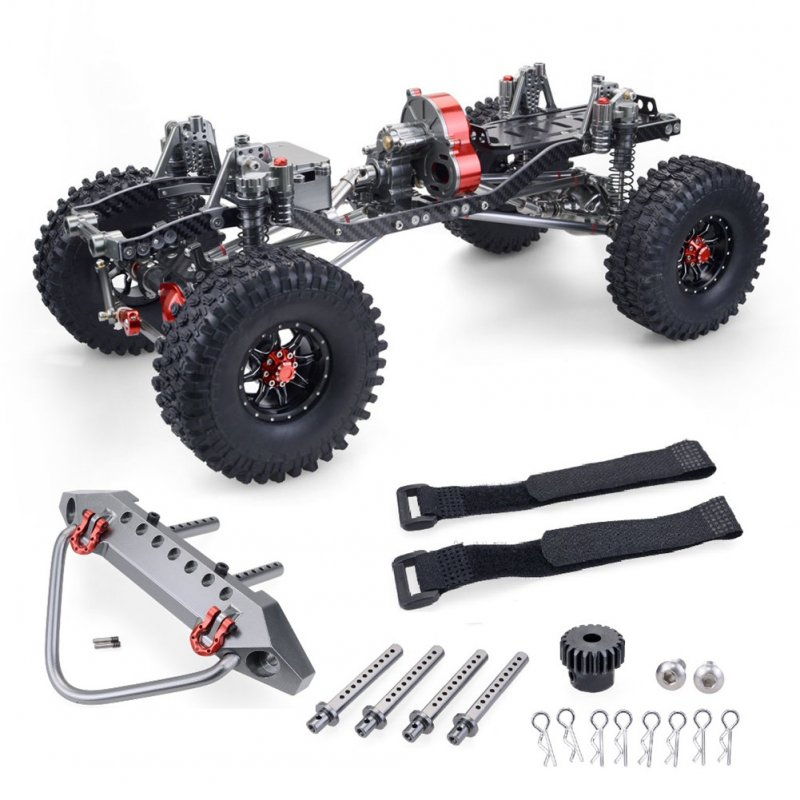 RC Racing CNC Aluminum Metal and Carbon Frame for RC Car 1/10 AXIAL SCX10 Wrangler Chassis 313mm Wheelbase Vehicle Crawler Cars Parts Frame