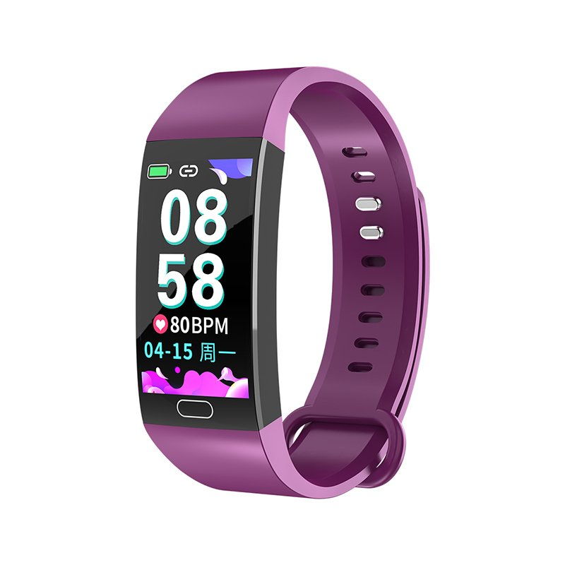 RD11 Smart Bracelet Band Measuring Pressure Clock Cardio Fitness Watch Heart Rate Activity Tracker Sports Smartwatch purple