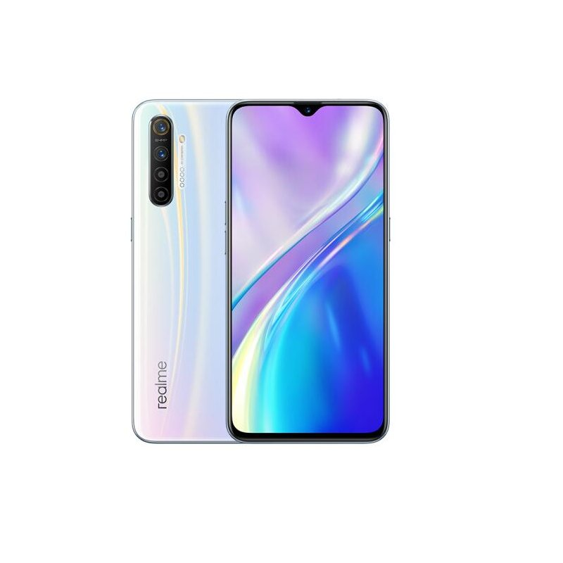 REALME X2 Cellphone 6.4inch Super AMOLED Screen Snapdragon 730G 64MP Quad Camera Smartphone Fast Charge MobliePhone white_6GB+64GB