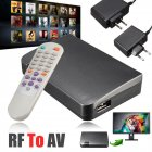 RF to AV Analog TV Receiver Converter Modulator Power Adapter USB with Video EU plug