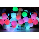 RGB Large LED String Ball Lights is 5 Meters long  twenty LEDs  20 watt power is ideal to be used as either Outdoor or Indoor Decoration