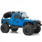RGT EX86100 PRO Kit 1/10 2.4G 4WD RC Car Electric Climbing Rock Crawler without Electronic Parts Outdoor Vehicle Toy blue