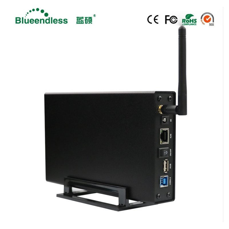 RJ45 External Hard Drive Case Nas Wifi Antenna Wireless Wifi Sata Usb 3.0 Wifi HDD Interface Box 3.5 HDD Caddy US plug
