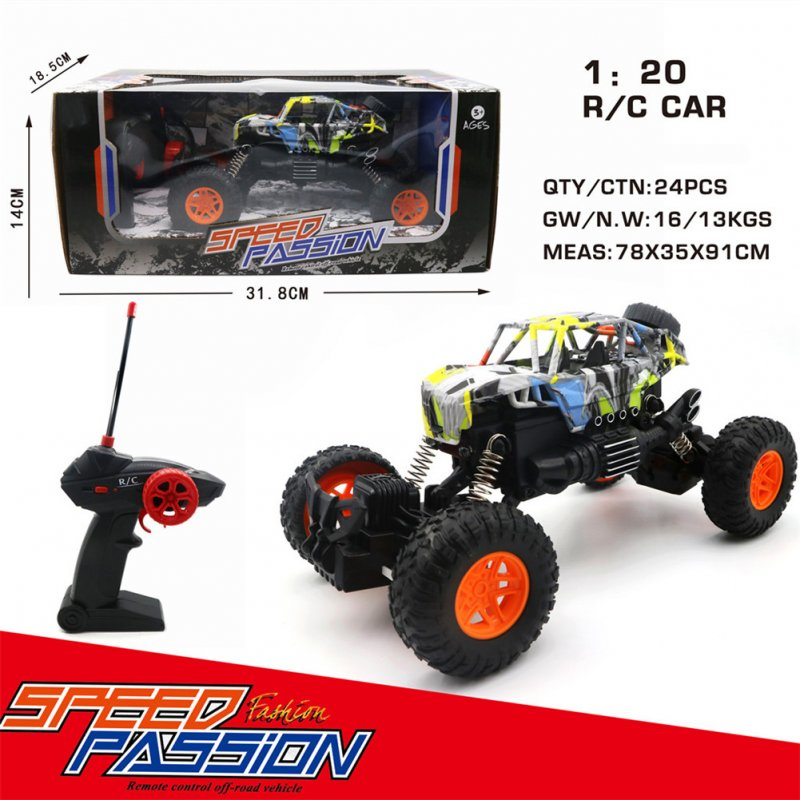 Radio-controlled Cars Toys Four-Way 1:20 Racing Graffiti Remote Control Car Model off-road Vehicle Toy Frame