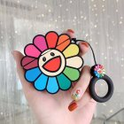 Rainbow Flower Headphone Cases for Apple Airpods 1/2/3 Silicone Earphone Cover Travel Storage