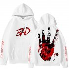 Rapper XXXTENTACION Korean Hoodie Hooded Long Sleeve Printing Tops C picture_XL
