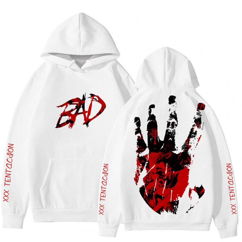 Rapper XXXTENTACION Korean Hoodie Hooded Long Sleeve Printing Tops C picture_S