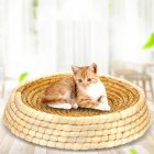 Rattan Cat Litter Natural Environmental Friendly Pet Nest 50cm in diameter