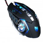 Ray Wolf V6 Wrangler Mechanical Wired Gaming Mouse Macro Programming Mouse LOL V6 black silver macro definition mute version