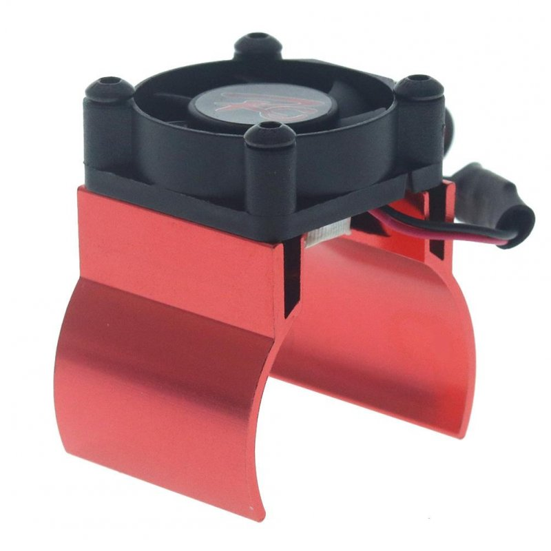 Rc Parts Motor Heat Sink + Thermal Induction Cooling Fan for 1:10 Hsp Trx-4 Trx-6 Scx10 Rc Car 540 550 36mm Size Motor Radiator red