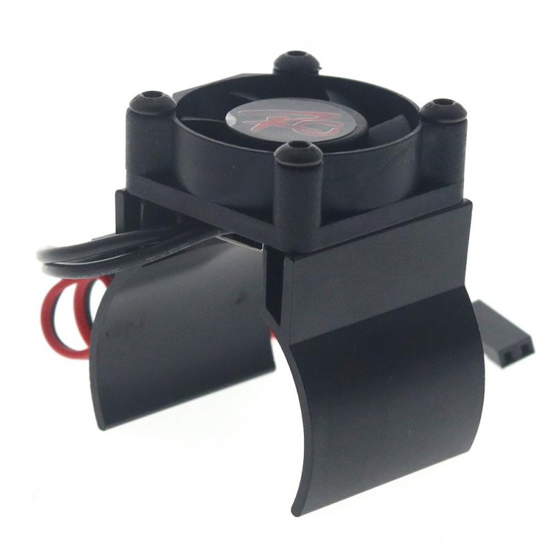 Rc Parts Motor Heat Sink + Thermal Induction Cooling Fan for 1:10 Hsp Trx-4 Trx-6 Scx10 Rc Car 540 550 36mm Size Motor Radiator black