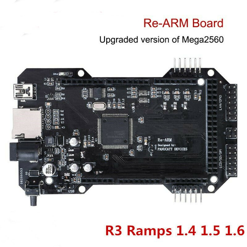 Re-Arm 32 Bit Micro-controller- Ramps 1.4 1.5 1.6 Plus-Mega 2560 R3 - 3D Printer black