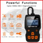 Reading Card / Car Fault OBD2 Diagnostic Scanner Multi-language Supports for VGATE VS890S As shown