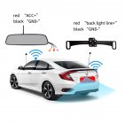 Rearview Mirror DVR 4.3-inch 2.4G Rear View Mirror + Reversing Camera Wireless Car Reversing Camera  black