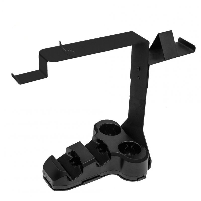 Recharge Bracket for PS4 Handles VR Bracket with Charging Base Black