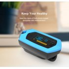 Rechargeable Finger Pulse Oximeter Blood Oxygen SpO2 Heart Rate Monitor  blue