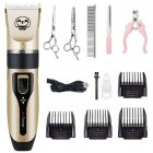 Rechargeable Hair Clippers Pet Dog Electric Pet Grooming Tool 5PCS of C200 plus double steel shears