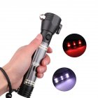 Rechargeable Multifunction Emergency Torch Lights USB Power Led Solar Flashlight Red light + white light