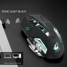 Rechargeable Wireless Silent LED Gaming Mouse USB Optical Mouse for PC Computer Peripherals black