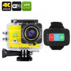 Q3H Waterproof 4K Sports Camera (Yellow)