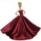 Red Chinese Style Gorgeous Wedding Gown Party Dress doll