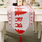 Red  Snowman Long  Table Runner Cloth Non-slip  Table Runner  Home Party Decor Small tree 2#