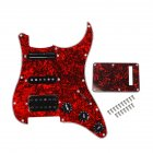 Red Tortoise Shell Pickguard Electric Guitar And Black SSH Loaded Prewired Scratchplate Assembly red