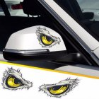 Reflective 3D Eyes Decals Car Stickers Rearview Mirror Car Head Styling Sticker