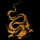 Reflective Dragon Totem Scratching Decals Car Stickers Full Body Car Head Styling Sticker yellow
