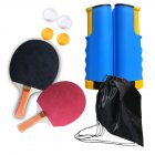 Regail Table Tennis Racket Set Portable Table Tennis Racket Telescopic Rack Set 4 Table Tennis PT-260 blue and yellow net rack set