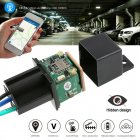Relay Car GPS Tracker Plastic GPS Positioner Vehicle Miniature Burglar Alarm black