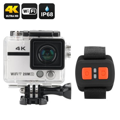 Ultra HD 4K Action Camera (White)