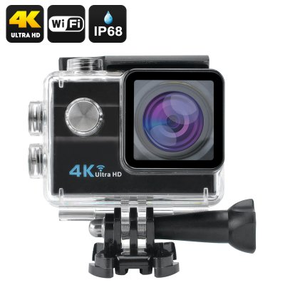 4K Wi-Fi Waterproof Sports Camera (Black)
