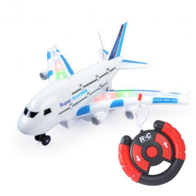 Remote Control Airplane A380 Smart Electric Airbus with Flashing Lights