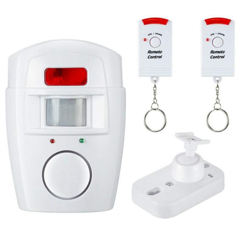 Remote Control Infrared Alarm Anti-theft Wireless Alarm Home Use white