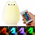 Remote Cute Night Cat Night Light