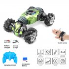 Remote Control Stunt Car Gesture Induction Twisting Off-Road Vehicle Light Music Drift Dancing Side Driving RC Toy Gift for Kids green