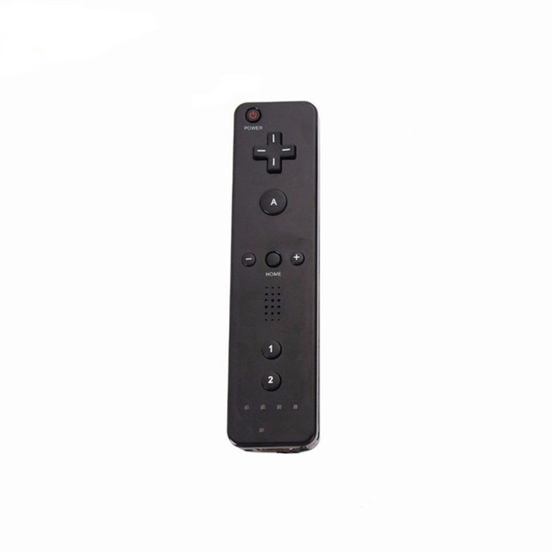 Remote Controller Game Handle for Wii  (Without Silicone Sleeve and Hand Rope) black