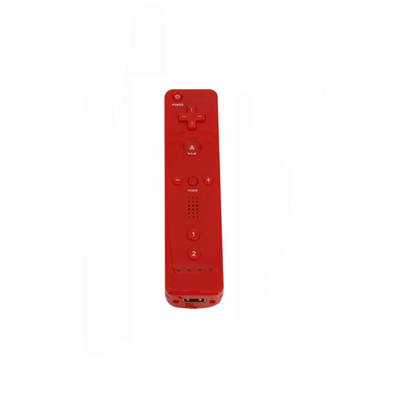 Remote Controller Game Handle for Wii  (Without Silicone Sleeve and Hand Rope) red