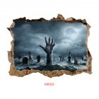Removable 3D Halloween Series Scary Wall Sticker Decoration Art Mural for Home Living Room KM315