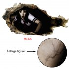 Removable 3D Halloween Series Scary Wall Sticker Decoration Art Mural for Home Living Room KM306