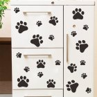 Removable Cartoon Dog Cat Walking Paw Print Wall Stickers Decal for Kids Room Wall Decoration  black