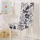Removable Chair Cover Stretch Elastic Slipcovers for Weddings Banquet Folding Hotel Chair Covering Black butterfly_General purpose