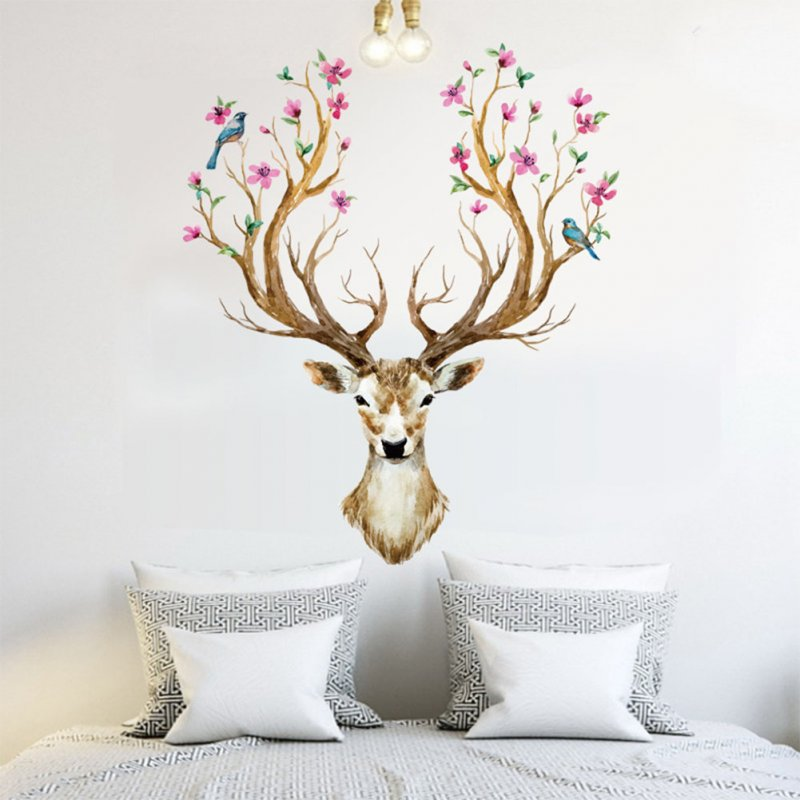 Removable Sika Deer Pattern Wall Sticker for Home Decoration 6SK9003