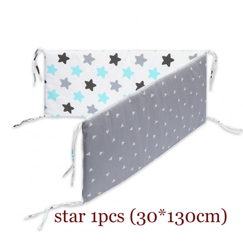 Removable Washable Cartoon Printing Baby Safety Crib Bed Fence Star CB3002