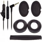 Replacement Ear Pads Cushion + Audio Cable + Headband for Bose QuietComfort QC15 QC2 black