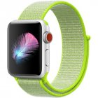 Replacement Sport Nylon Woven Band for Apple Watch Series 4 40mm/44mm light yellow_44mm