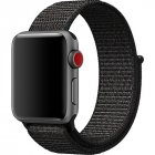 Replacement Sport Nylon Woven Band for Apple Watch Series 4 40mm 44mm black 44mm